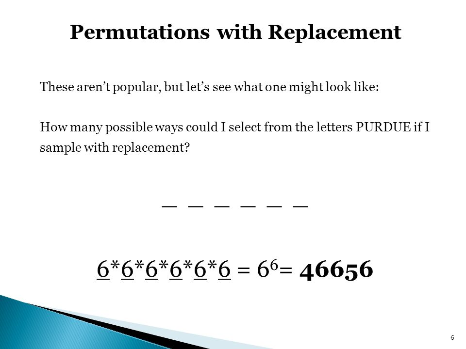 Permutations with Replacement