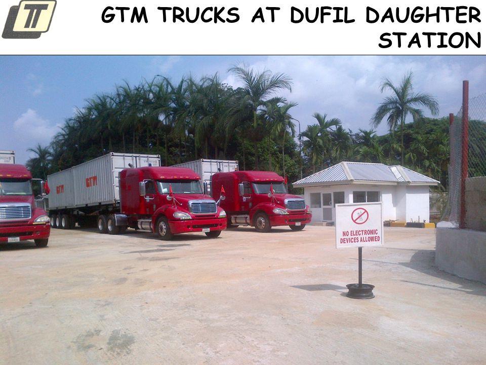 GTM TRUCKS AT DUFIL DAUGHTER STATION