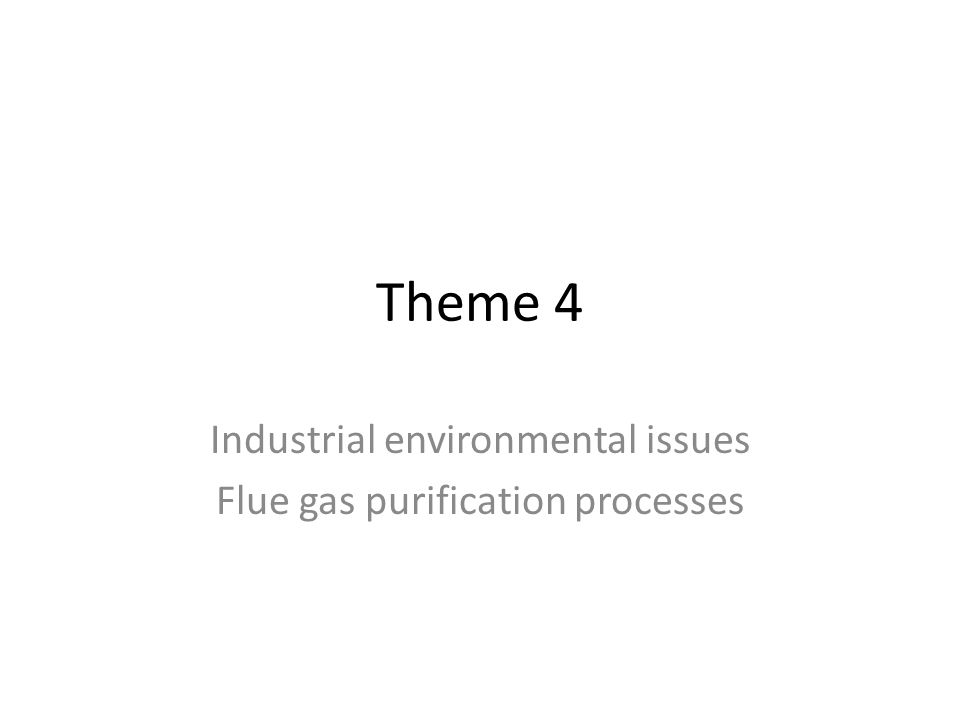 Industrial environmental issues Flue gas purification processes
