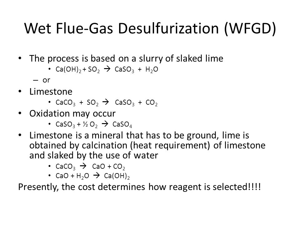 Wet Flue-Gas Desulfurization (WFGD)