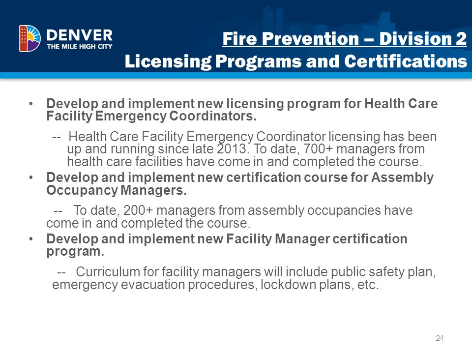 Fire Prevention – Division 2 Licensing Programs and Certifications