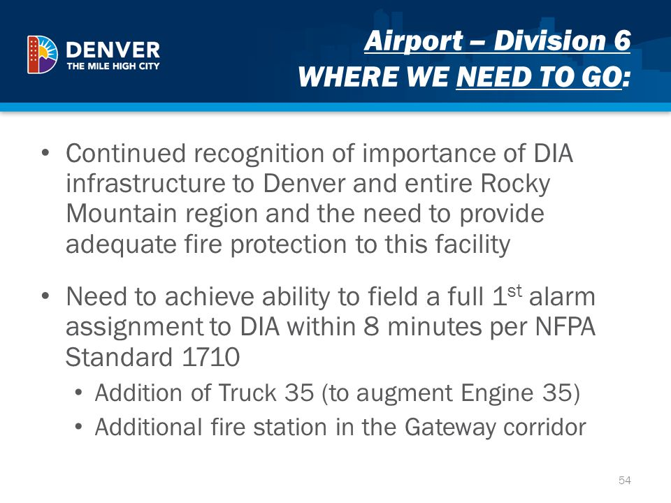 Airport – Division 6 WHERE WE NEED TO GO: