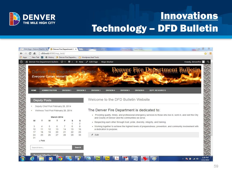 Innovations Technology – DFD Bulletin