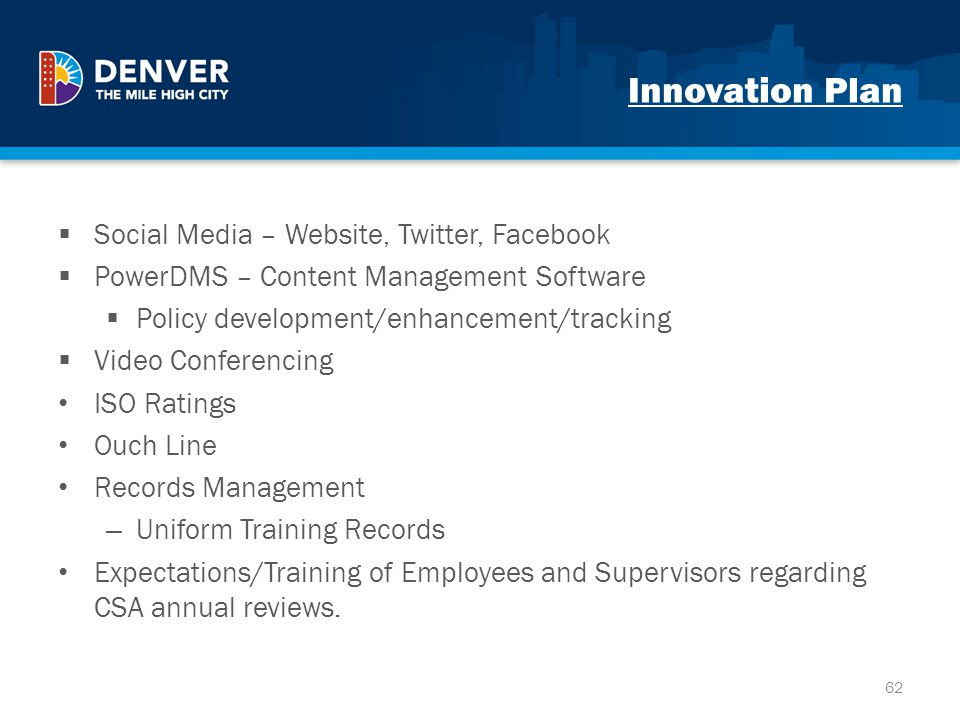Innovation Plan Social Media – Website, Twitter, Facebook