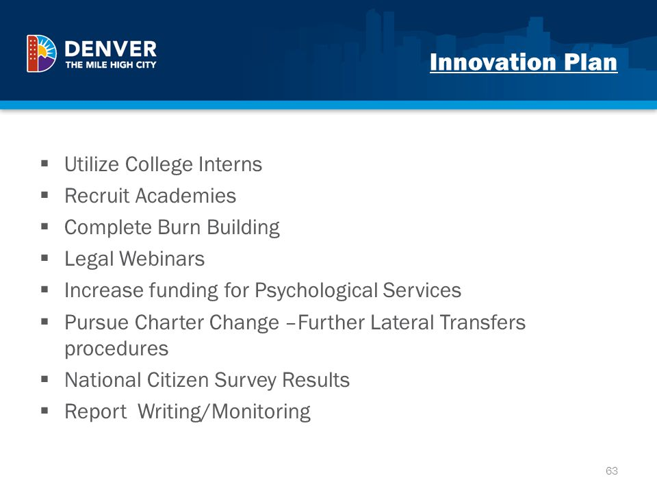 Innovation Plan Utilize College Interns Recruit Academies
