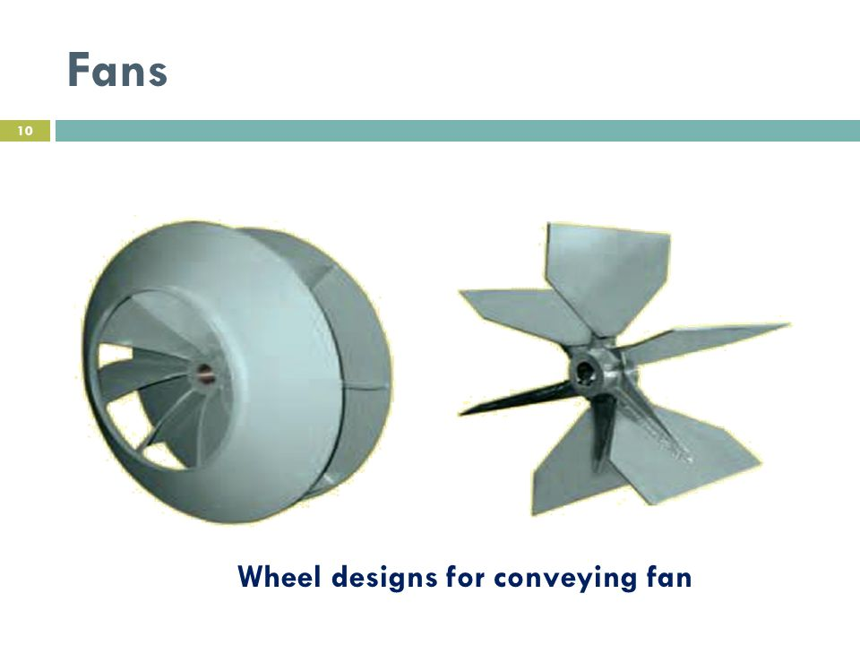 Fans Wheel designs for conveying fan