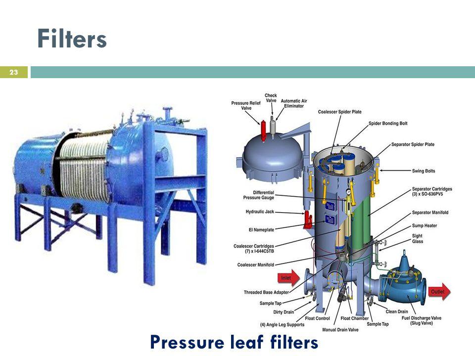 Filters Pressure leaf filters