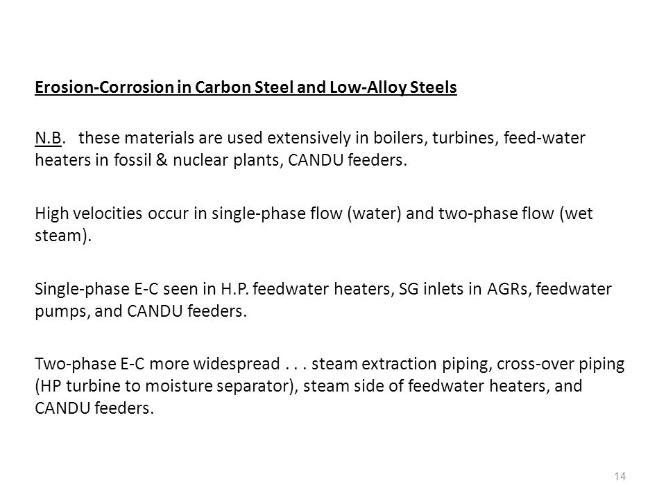 Erosion-Corrosion in Carbon Steel and Low-Alloy Steels