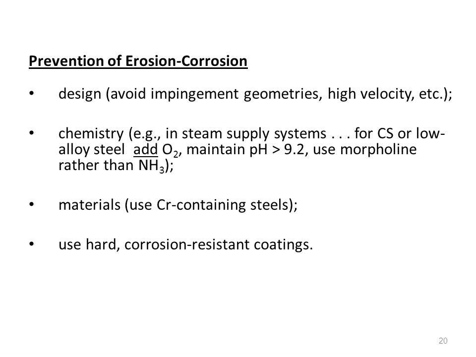 Prevention of Erosion-Corrosion