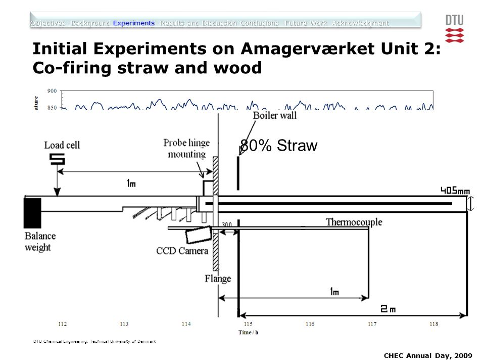 Initial Experiments on Amagerværket Unit 2: Co-firing straw and wood