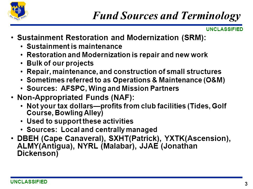 Fund Sources and Terminology