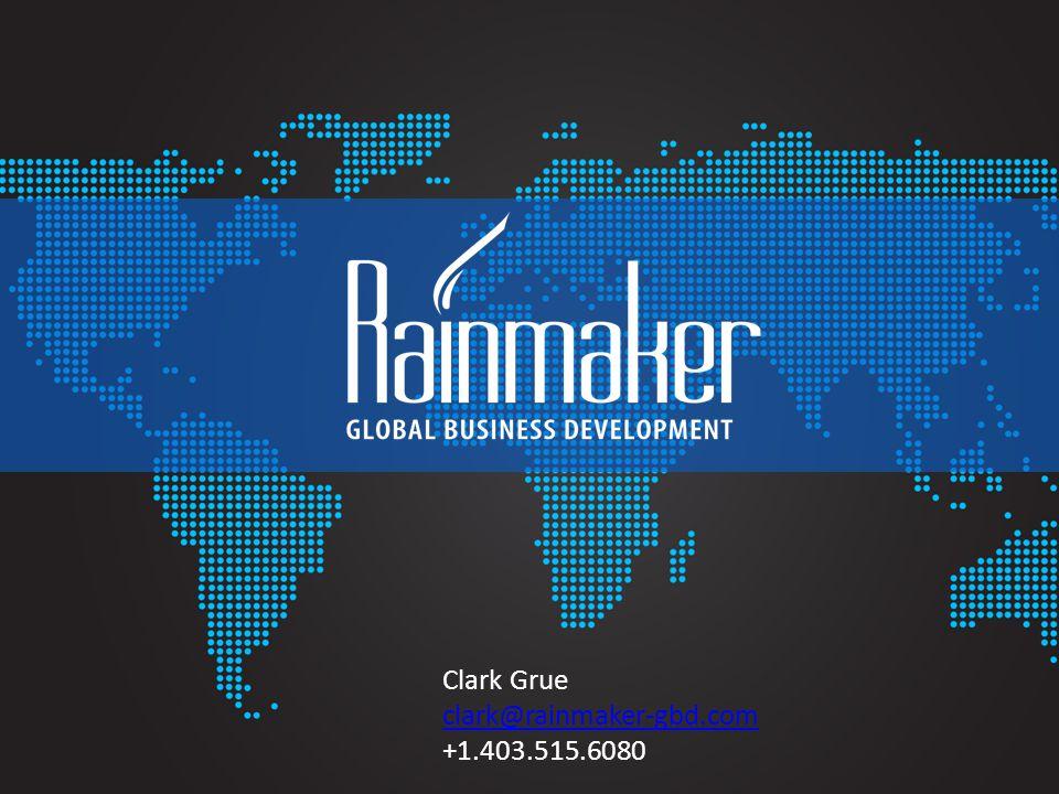 Clark Grue clark@rainmaker-gbd.com +1.403.515.6080