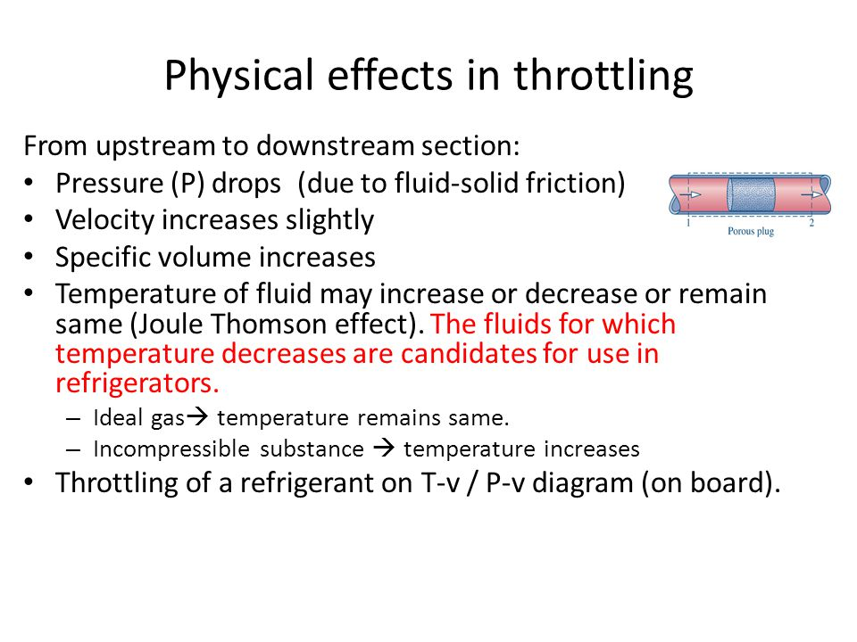 Physical effects in throttling