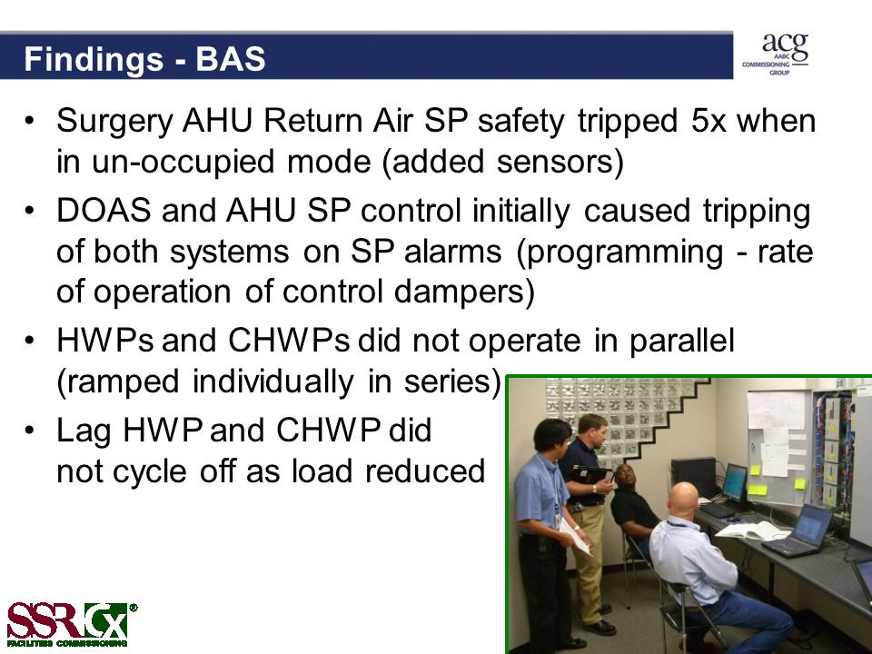 Findings - BAS Surgery AHU Return Air SP safety tripped 5x when in un-occupied mode (added sensors)