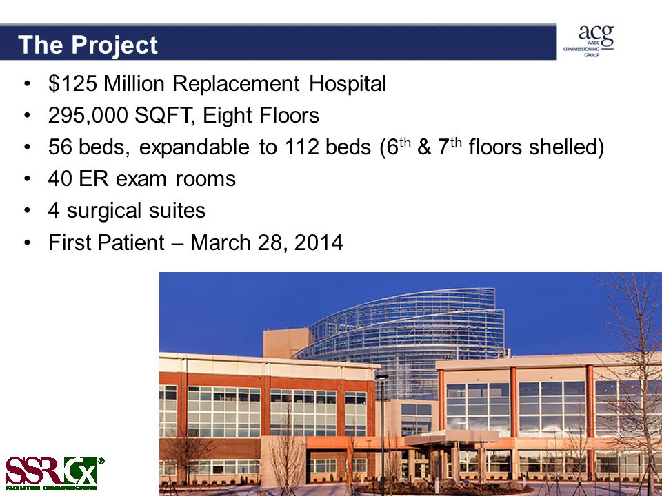 The Project $125 Million Replacement Hospital