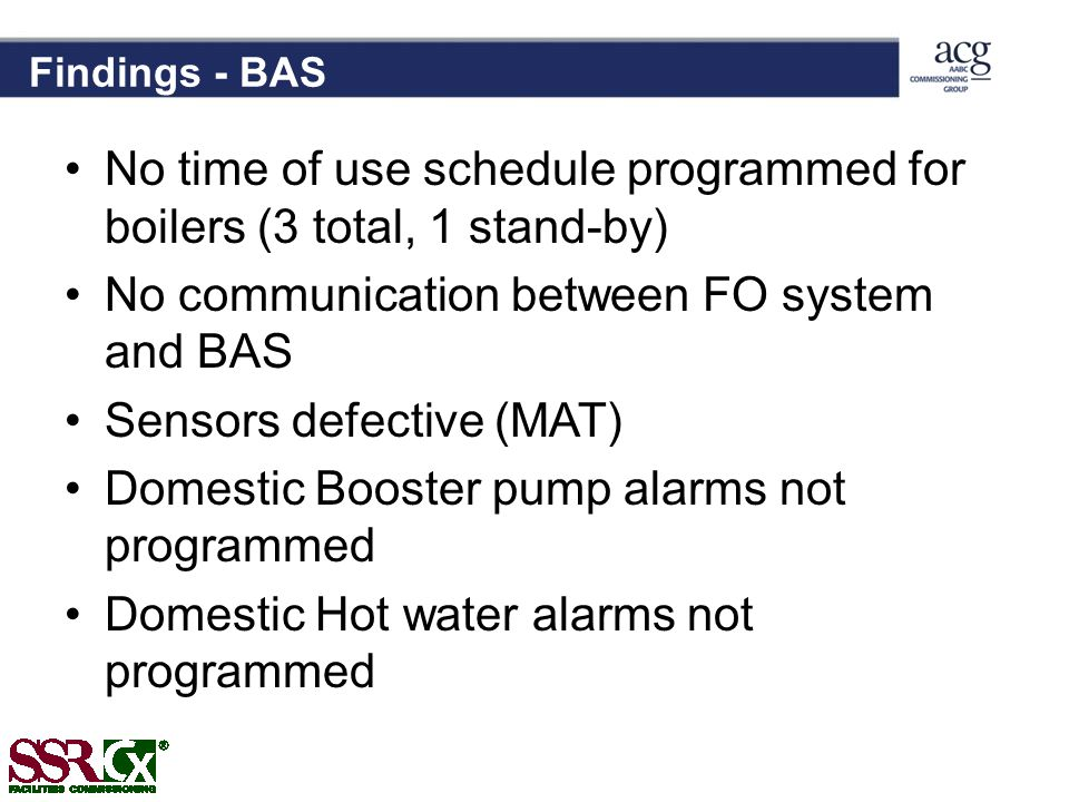 No time of use schedule programmed for boilers (3 total, 1 stand-by)
