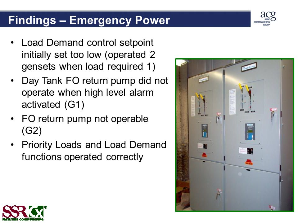 Findings – Emergency Power