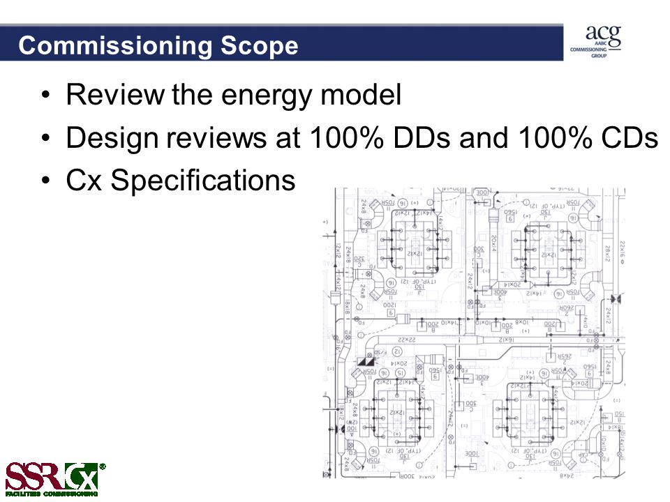 Review the energy model Design reviews at 100% DDs and 100% CDs