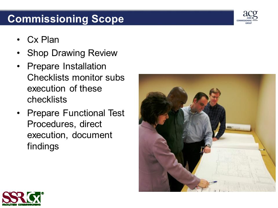 Commissioning Scope Cx Plan Shop Drawing Review