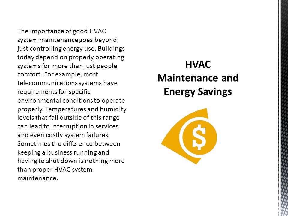HVAC Maintenance and Energy Savings