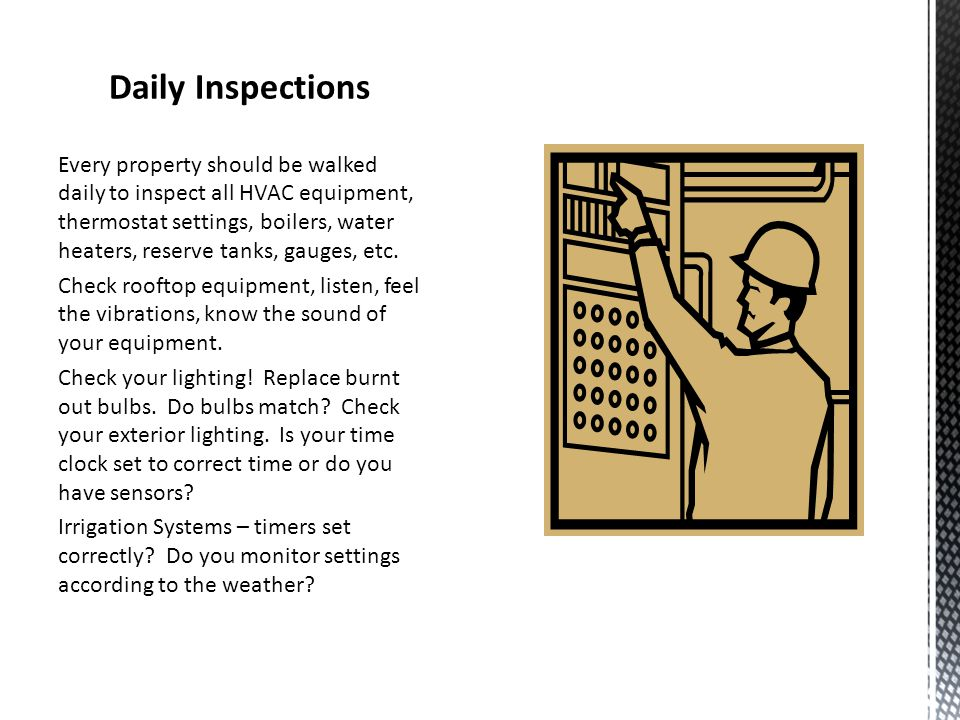 Daily Inspections