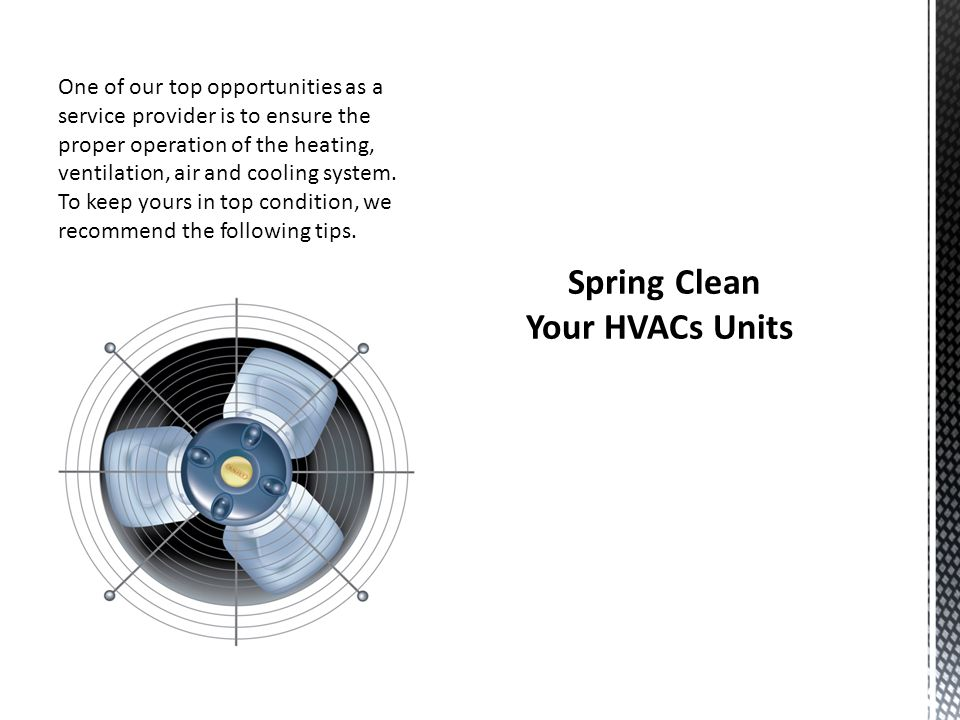 Spring Clean Your HVACs Units