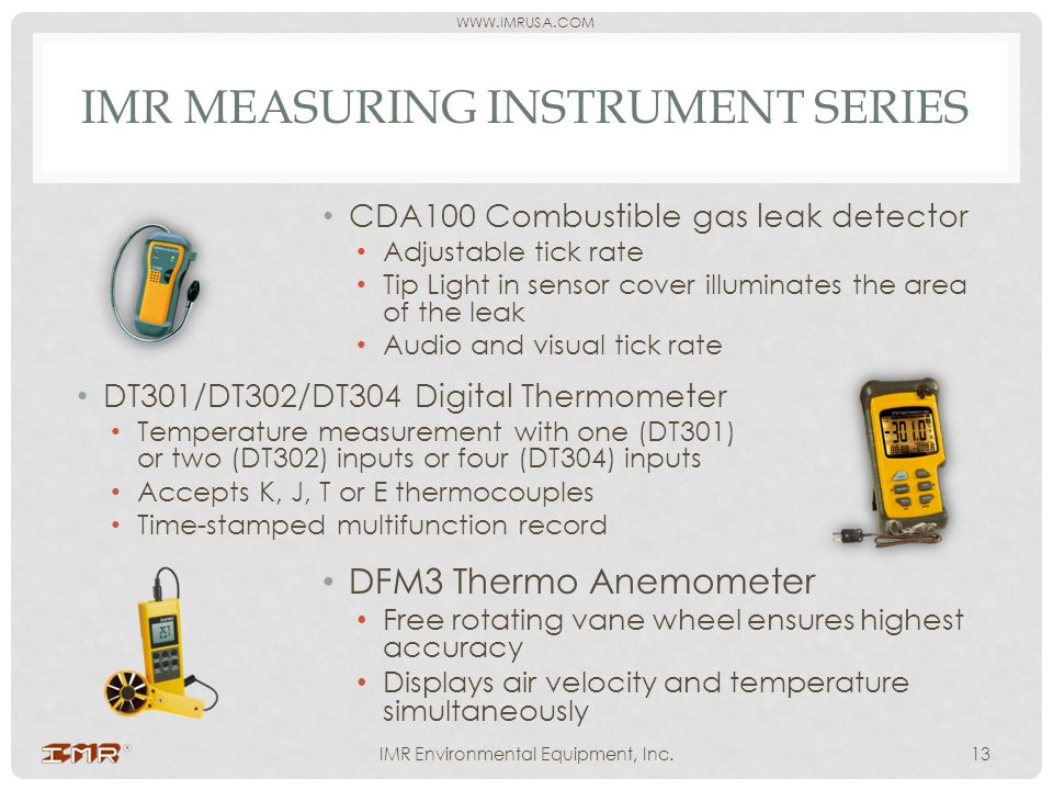 IMR measuring instrument series