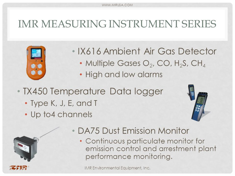 IMR measuring instrument series