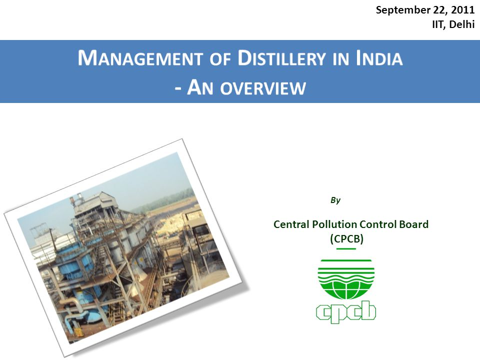Management of Distillery in India - An overview