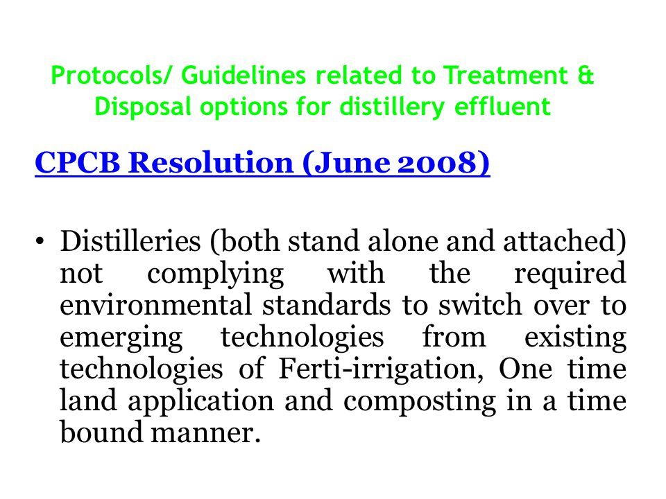CPCB Resolution (June 2008)