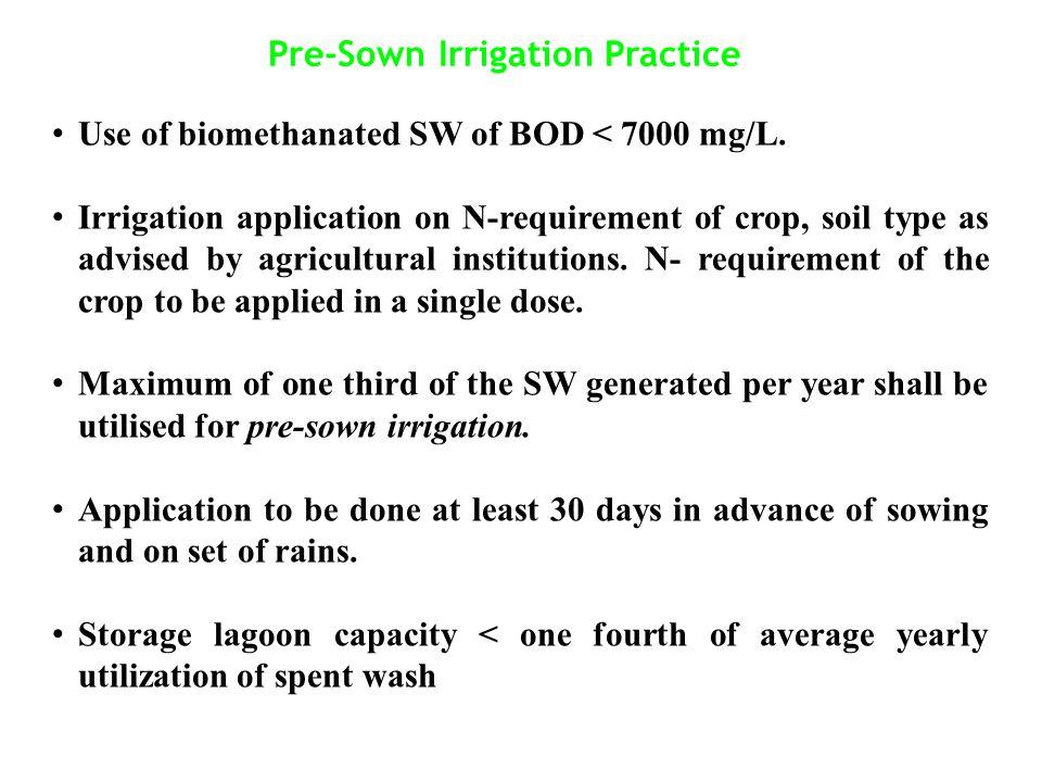 Pre-Sown Irrigation Practice