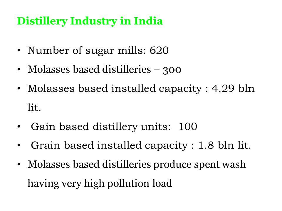 Distillery Industry in India
