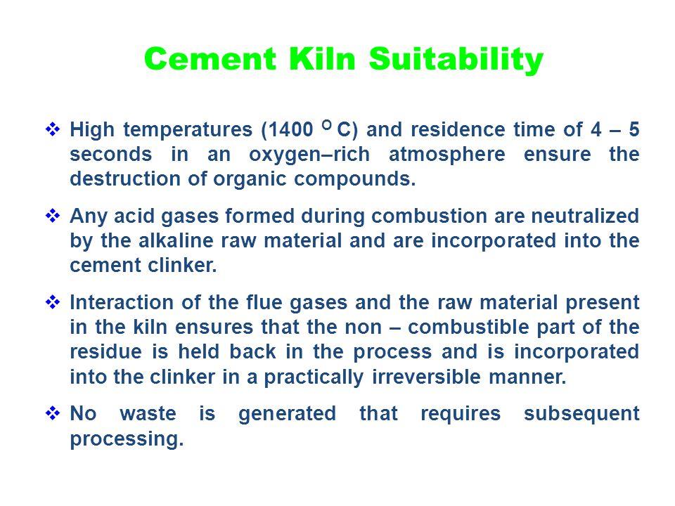 Cement Kiln Suitability