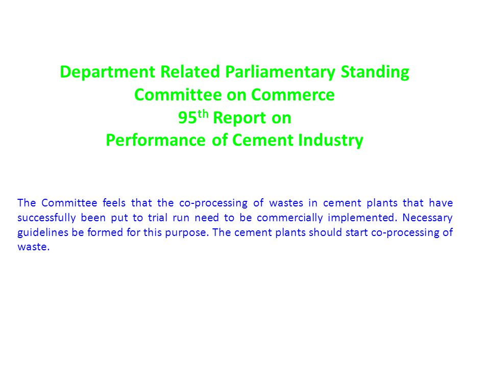 Department Related Parliamentary Standing Committee on Commerce