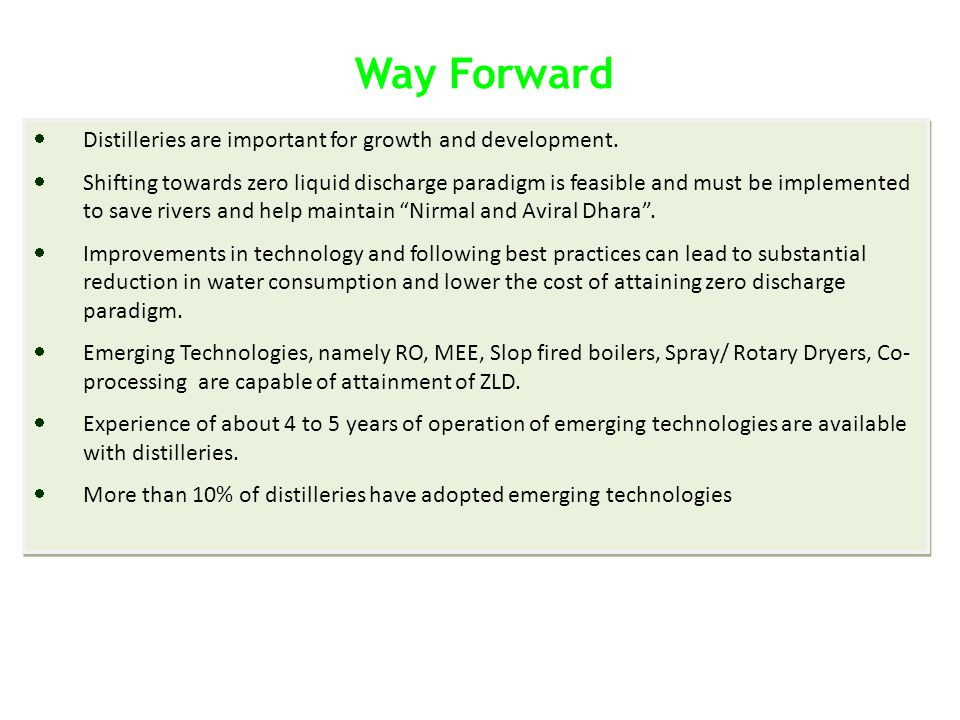 Way Forward Distilleries are important for growth and development.