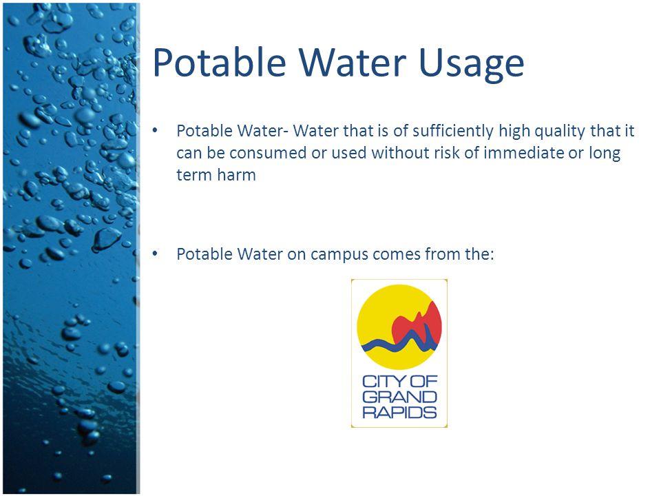 Potable Water Usage