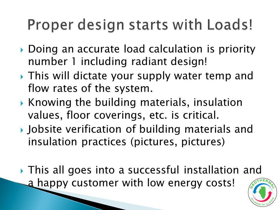 Proper design starts with Loads!