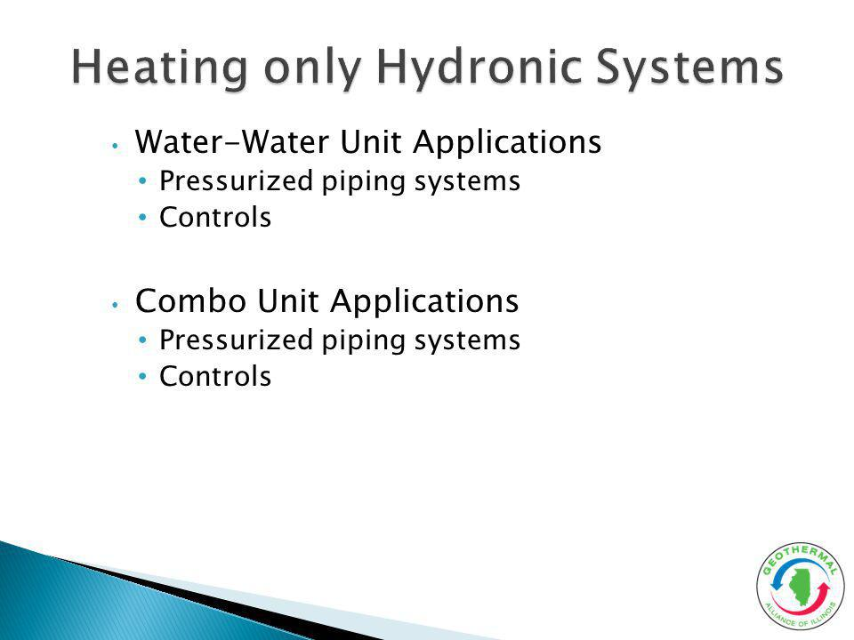 Heating only Hydronic Systems