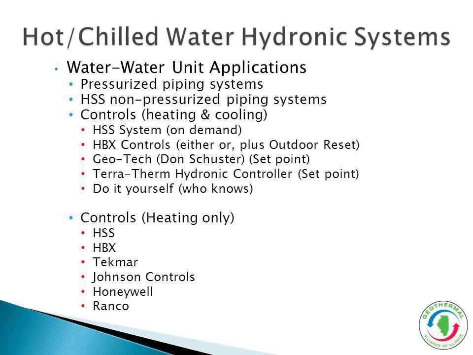 Hot/Chilled Water Hydronic Systems