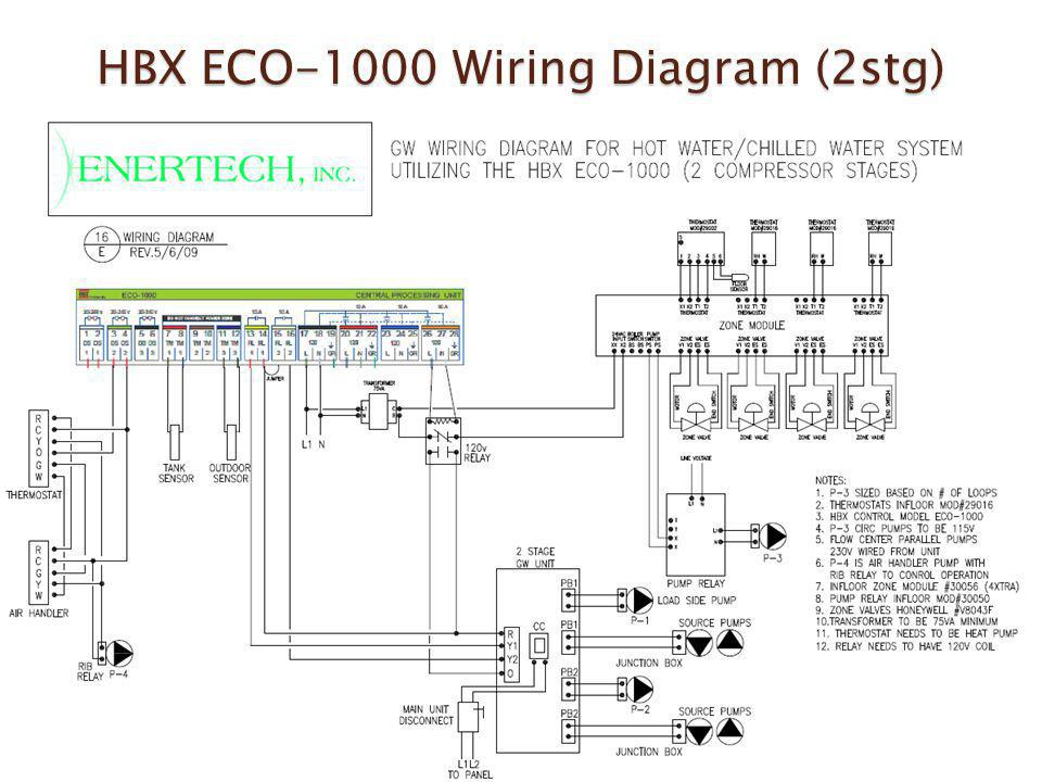 HBX ECO-1000 Wiring Diagram (2stg)