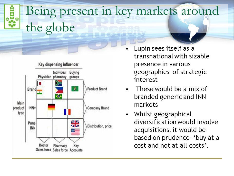 Being present in key markets around the globe