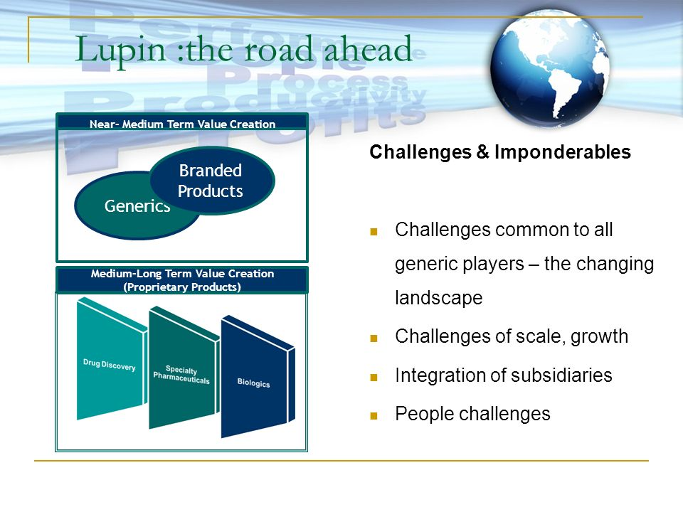 Lupin :the road ahead Challenges & Imponderables