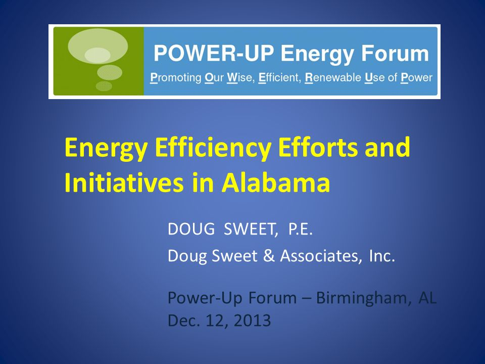 Energy Efficiency Efforts and Initiatives in Alabama