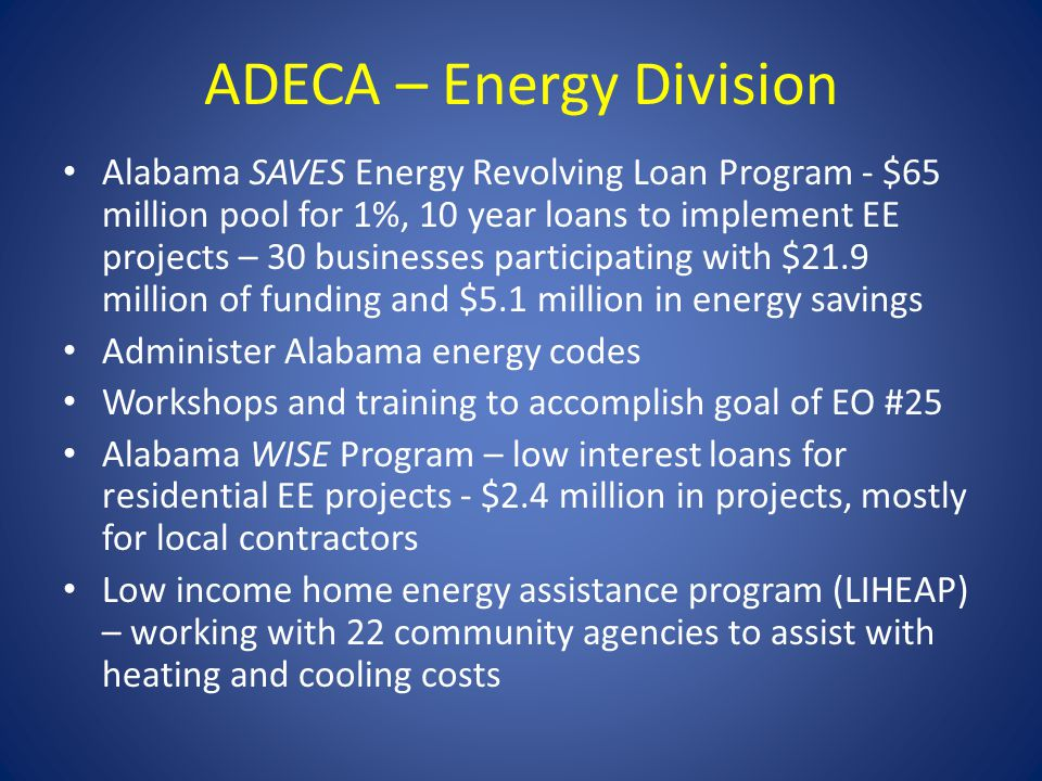 ADECA – Energy Division