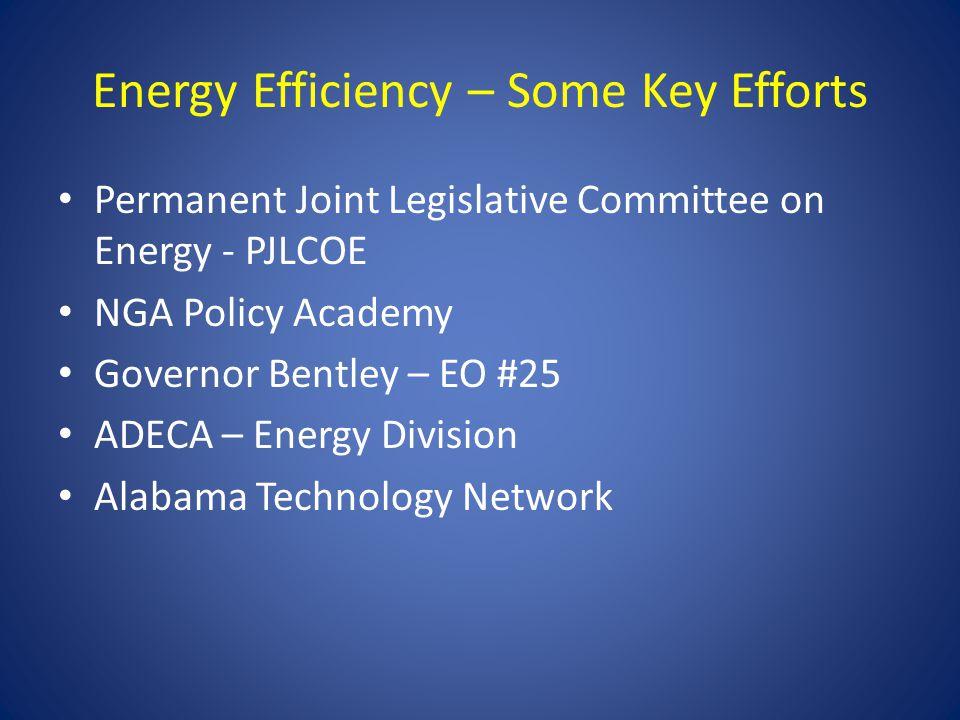 Energy Efficiency – Some Key Efforts