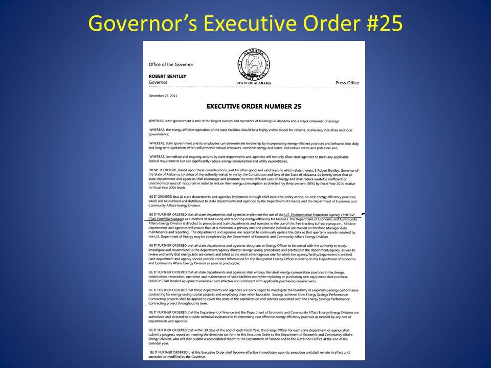 Governor's Executive Order #25