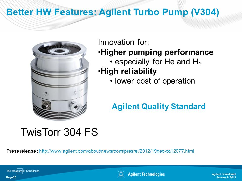 Better HW Features: Agilent Turbo Pump (V304)
