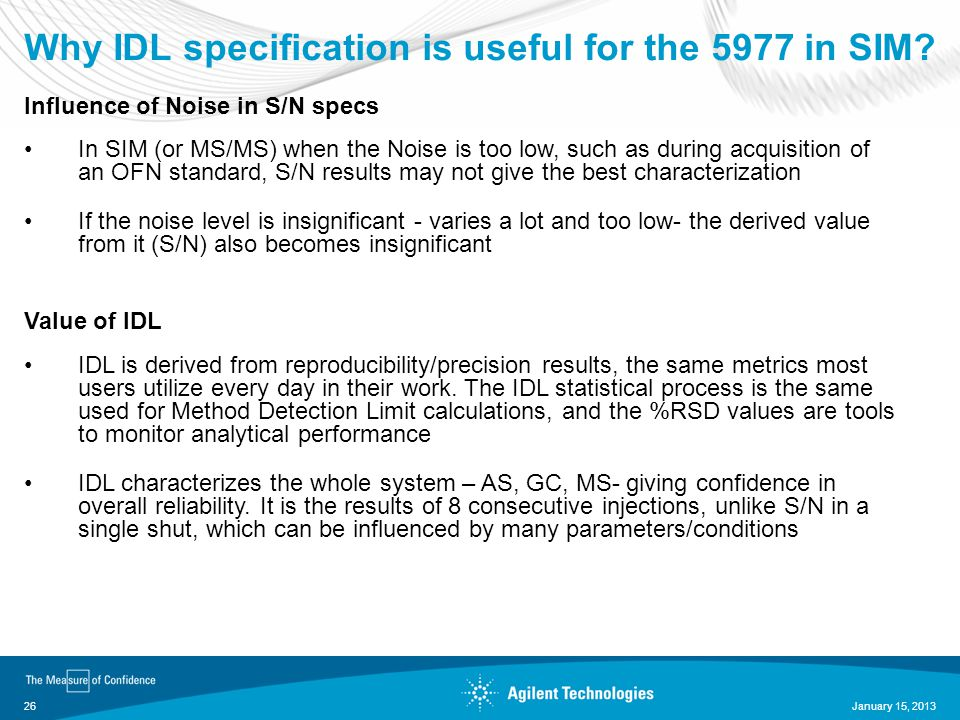 Why IDL specification is useful for the 5977 in SIM