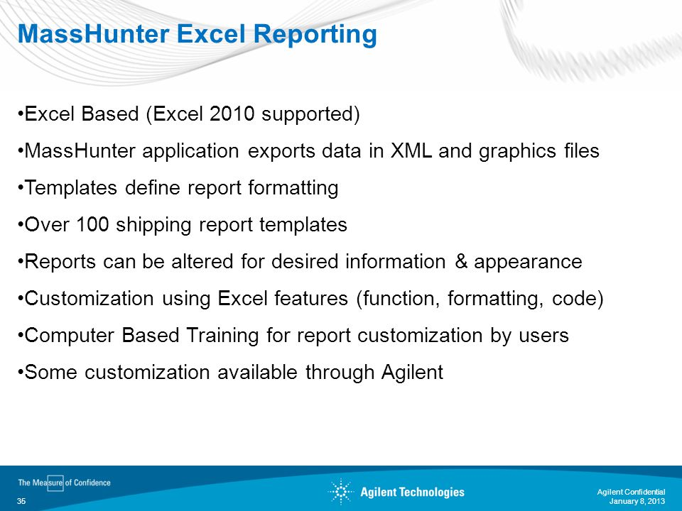 MassHunter Excel Reporting