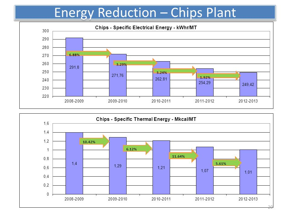 Energy Reduction – Chips Plant